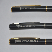 Silver clip roller pen and gold blip pen 10g/pc mini promotional items with your logo brand printed