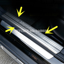 Stainless Inside Door Sill Scuff Plate 4pcs For Benz A-Class W176 2013 -2016