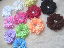 Large Flowers Headdress flower Hair Pins Newborn Kids Peony flowers Hair clips  Popular lace clip hair accessories A004