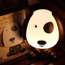 Panda/Rabbit/Dog/Bear Cartoon Night Light Kids Bed Lamp Night Sleeping Lamp for children room Light EU/US Plug Nightlight