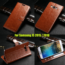 J5 Luxury Retro Leather Wallet Flip Cover font b case b font For font b Samsung
