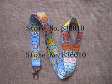Hot Sale! 10 pcs Popular Anime  Key Chains Mobile Cell Phone Lanyard Neck Straps    Favors AA-5
