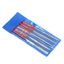 DIYFIX 5pcs 140x3mm Needle File Set Glass Stone Jewelers Wood Carving Craft Tools Woodworking Hand Tool