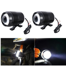 2PCS Motorcycle Headlights 30W 12V U2 Moto Led Driving Spotlights Offroad Car ATV SUV Headlamp Fog Spot Head Lights Lamp(China)