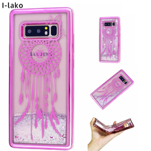 30pcs/lot For Galaxy Note 8 Electroplate Light Weight Tower Flora Flying Butterfly Glitter TPU Case For Samsung Galaxy Note 8(China)
