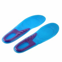 1 Pair Small Size Orthotic Arch Support Massaging Silicone Anti-Slip Gel Soft Sport Shoe Insole Pad For Man Women Foot Care Tool(China)