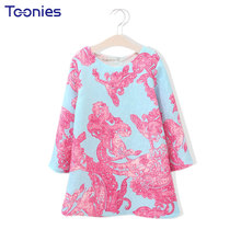 Autumn Winter Girl Dress Casual Girls Dresses Personalized New Design Baby Party Costumes Cute Princess O-neck Vestidos Fashion(China)
