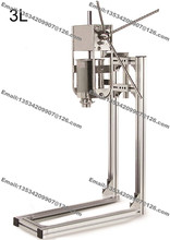 3L Stainless Steel Heavy Duty Hand Operated Spanish Donuts Machine Maker Filler Baker(China)