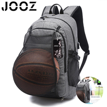 Hot Laptop Bagpack Canvas Travel USB Charging Notebook Handbags Laptop Bag With Basket Ball Mesh Pocket for Women Bag Pack(China)
