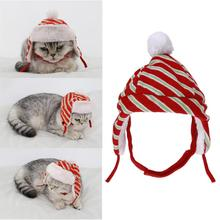 Pet Hats Lovely Cats Dogs Decoration Supplies Christmas Navidad Red Stripe Winter Warm Costume Caps Pet Outdoor Accessories