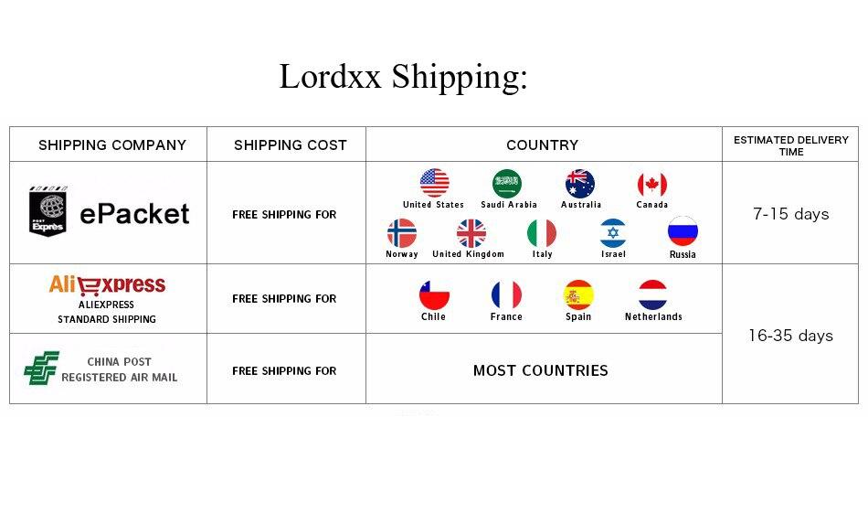 LORDXX  shipping