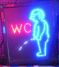 WC Toilet signs Creative LED lights Luminous bathroom signage Male and female toilets card Toilets listing(China)