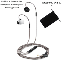 NY57+Flannel bag Bass headphones Waterproof earphone Sport headset for iPhone 6 samsung xiaomi mi mix huawei sony oppo phone mp3