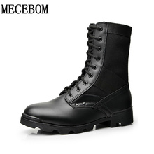 Men boots fashion black high-top boots new autumn breathable lace-up casual shoes warm ankle boots size 38-44 3538