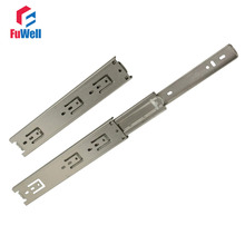 2pcs 22inch Drawer Slide 45mm Width Stainless Steel Fold Telescopic Ball Bearing Sliding Rail for Furniture Cabinet Drawer(China)