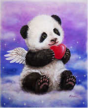 Diamond Mosaic panda angel picture diy 5D Diamond Painting cross stitch round drill sets diamond embroidery beading child gift