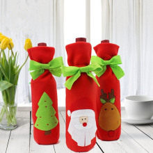 Christmas Wine Bottle Cover Festival Celebration Wine Bag Christmas Tree Champagne Cover Christmas Decoration Supplies