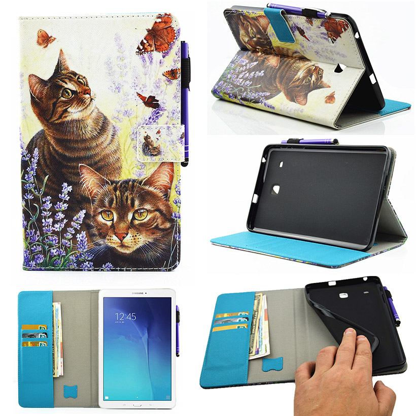 Tablet Painted PU Leather Cases For Samsung Galaxy Tab E 8.0 SM-T377 T377 T377V T375 8 T377P T377R Cases Wallet Style Holders<br><br>Aliexpress