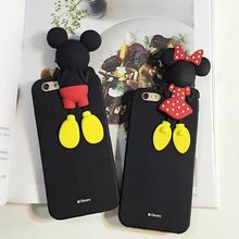 Mobile Phone Case For Apple Iphoe 5 5S  SE Case Cute Mickey Mouse 3D Stereo Effect  Soft Anti-knock Back Case Cover