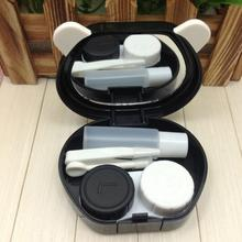 New Fashion Panda Design Contact Lens Box Case Container Holder With Mirror Tweezers Set Eyes Care Kit Holder Container
