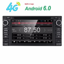 Quad Core Android 6.0 Car DVD Player Stereo For TOYOTA Hiace RAV4 Landcruiser PRADO Camry MR2 HILUX DVD/Bluetooth/Radio/Audio(China)