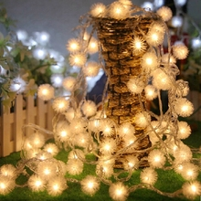 20m 200led Fairy string light Cotton snow ball light Christmas New year Holiday Party Wedding livingroom Decoration