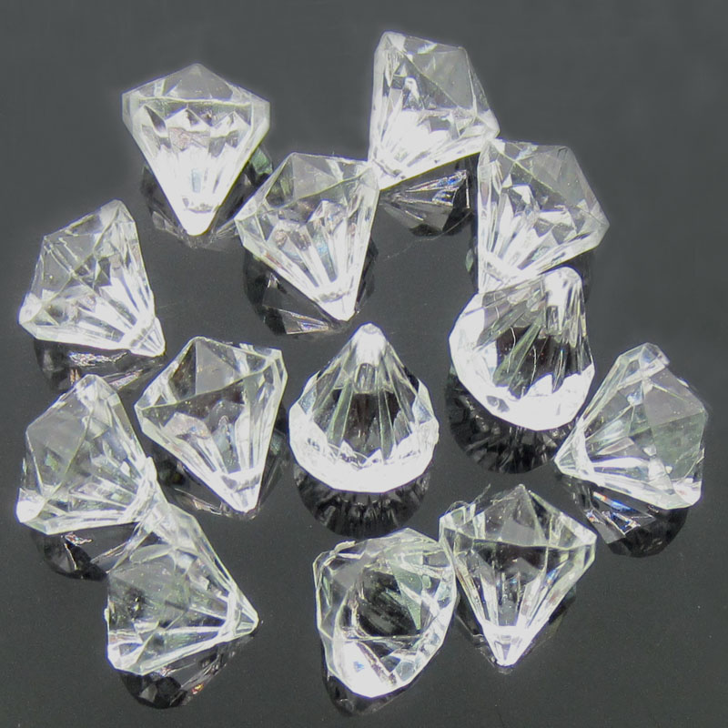 Parte posterior plana 1000 Cristal Acrílico Pedrería Gemas Diamante Boda Fiesta Mesa *