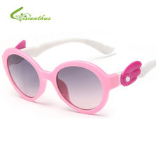 High Quality Kids Safety Coating Sunglasses Children Princess 2017 New Fashion Cute Baby Lovely Sun Glasses Girls Goggle Eyewear