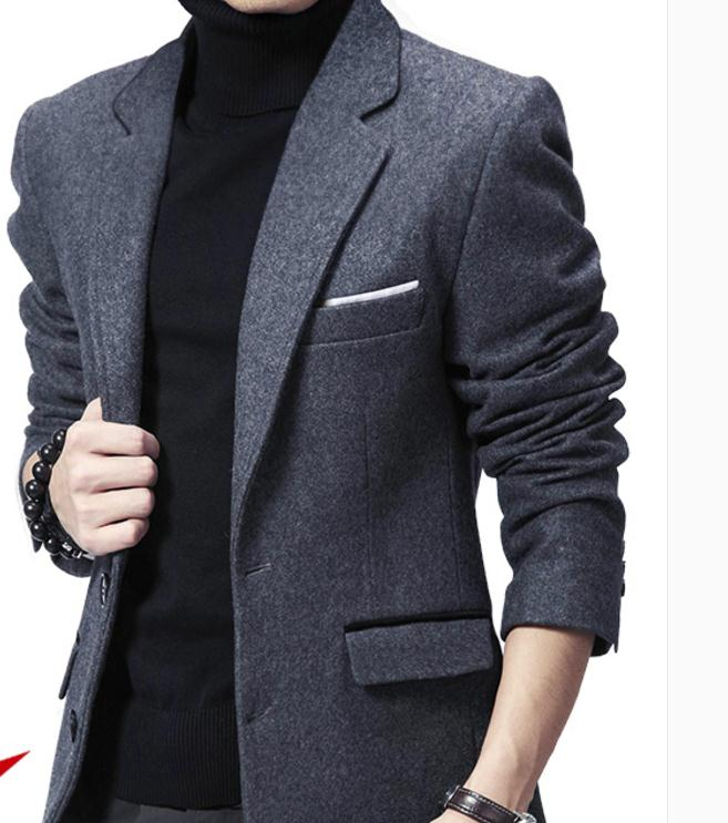 2018 new  Suits for men in autumn and winter New style Korean  lie fallow Western-style clothes coat