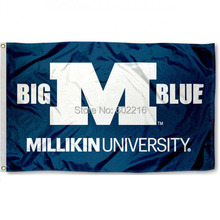 MU Big Blue College Large Outdoor Flag 3ft x 5ft Football Hockey Baseball USA Flag