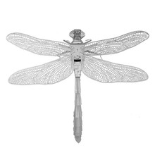 Dragonfly Puzzle Metal 3D Kids Toys Jouet Enfant DIY Assembly Insect Model Brinquedos Educational Toys Jigsaw Puzzles For Boys