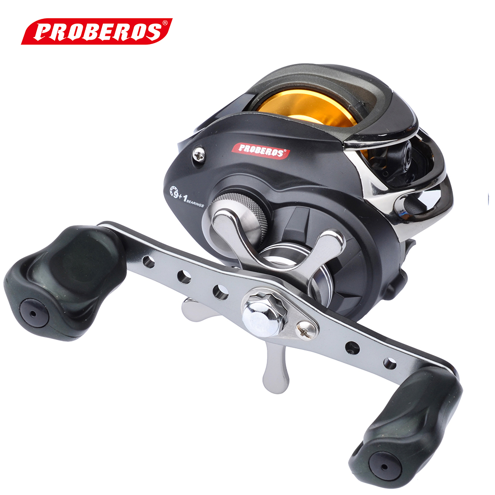PROBEROS Right or Left Baitcasting Reel 10BBs 6.3:1 Bait Casting Fishing Reel Centrifugal Brake 4.5KG Drag Power<br>