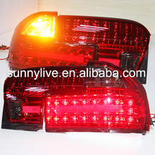 1992-2009year For PROTON Wira LED Tail lamp rear ligths back light Red Black color YZ type