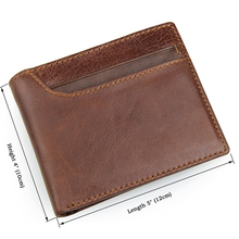 New Style RFID BLOCKING Men Wallet  Vintage Genuine Cow Leather Bifold Purse Card Holder RFID Protection Wallets for Men