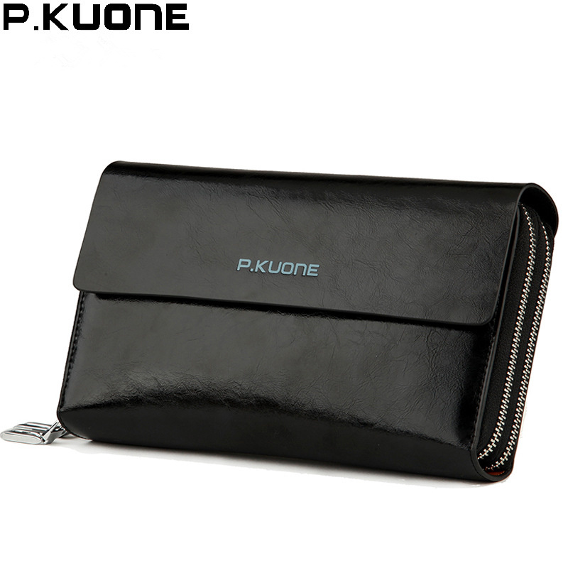 Brand Famous Wallets For Men Excellent Genuine Leather Men Clutch Wallet Mens Purse Large Capacity Masculina Carteira Money Bag<br>