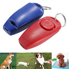 Dog Clicker & Whistle- Training, Obedience, Pet Trainer Click Puppy With Guide #265(China)