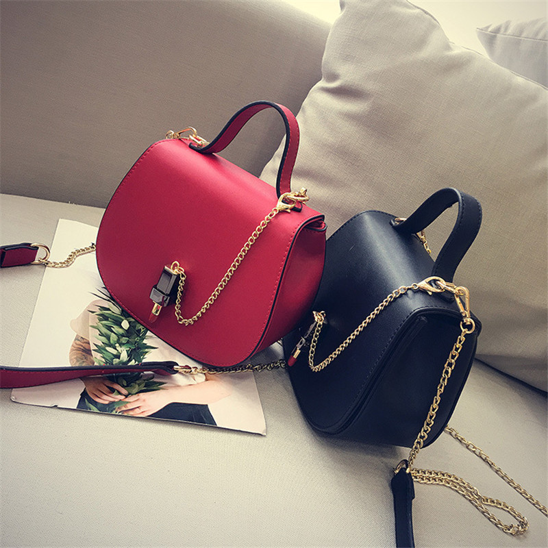 new fashion Famous design saddle crossbody bag Lipstick lock Flap small bag Lady PU Leather women Shoulder Bags female Clutches<br>