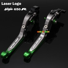 For kawasaki For KAWASAKI NINJA 650R 2006-2008 Motorcycle Brake Clutch Levers Logo(NINJA 650R)