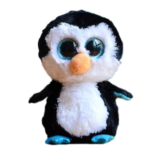 Ty Beanie Boos Original Big Eyes Plush Toy Doll 10 - 15cm Black Penguin TY Baby For Kids Brithday Gifts