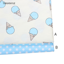 Blue Ice cream meter fabric 95% Cotton Fabric quilting Baby Cloth Kids bedding patchwork tissue home Textile Sewing dot fabric