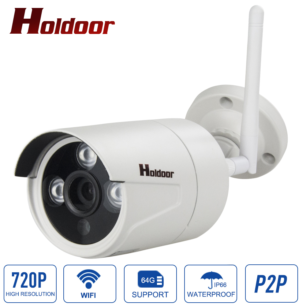 Outdoor Bullet IP Camera Wifi 720P  Wireless mini Onvif P2P IR Night Vision Security CCTV Cam Support micro sd card Up to 64G<br>