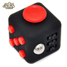Mini Cube 11 Colours Desk Finger Toy Keychain Squeeze Fun Stress Reliever Puzzle Magic Cube With Box