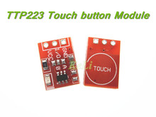 10PCS/LOT NEW TTP223 Touch button Module Capacitor type Single Channel Self Locking Touch switch sensor RED