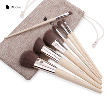 DUcare Makeup Brushes 7Pcs professional makeup brush set Bamboo Foundation Eyeshadow brush with bag make up tools(China)
