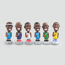 Mini NBA Basketball Star Action Figure Kobe Wade O'Neal Nowitzki McGrady Nash 10 CM PVC Collection Limited Toys Model For Boys