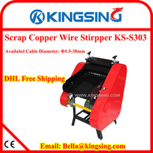 High-efficient Scrap Wire Stripping Machine KS-S303 + Free shipping by DHL air express (door to door service)