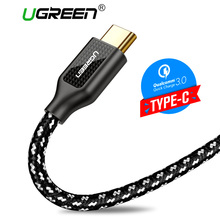 Ugreen Nylon USB C Cable 3A Fast Charger USB Type C Cable Xiaomi Mi8 Samsung S9 S8 One Plus 6 5 5T Type-C USB Charging Cord
