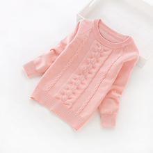 winter knitted sweater girl 2017 new kids knit  sweater girls' sweaters 3-14 years children clothing cotton baby girl pullover