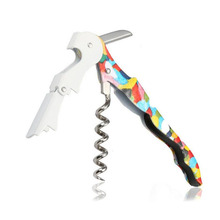 Colorful Stainless Steel Red Wine Bottle Opener Multifunction Portable Screw Corkscrew Kitchen Accessory Bar Tool ZA3182(China)