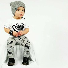 SY154 2016 New summer baby boy clothes cotton baby clothes fashion short sleeve t-shirt + pants 2 pcs  newborn girl clothes set